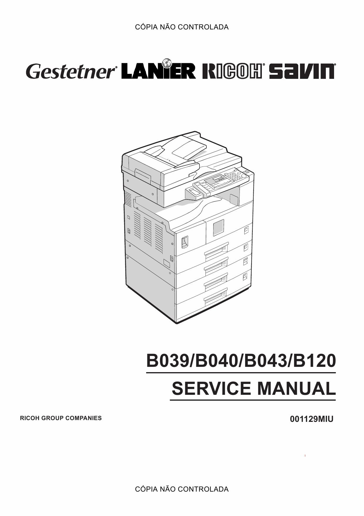 Aficio Mpw5100 Mpw7140 Full Service PDF Format